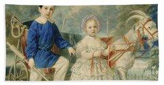 Grand Duke Alexander And Grand Duke Alexey As Children Bath Towel