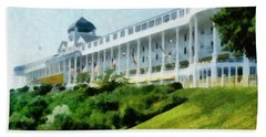Grand Hotel Mackinac Island Ll Bath Towel by Michelle Calkins