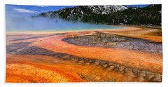 Grand Prismatic Spring Boardwalk View Bath Towel