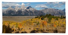 Grand Tetons In Autumn Hand Towel