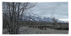 Grand Tetons Landscape Bath Towel