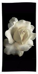Grandeur Ivory Rose Flower Bath Towel