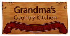 Grandmas Country Kitchen Hand Towel