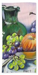 Grapes Galore Hand Towel by Marilyn  McNish