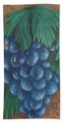 Grapes With Dewdrop Hand Towel