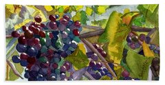 Bath Towel featuring the painting Grapevines by Lynne Reichhart