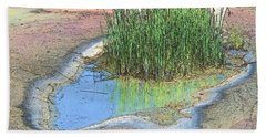 Hand Towel featuring the photograph Grass Growing On Rocks by Teresa Zieba
