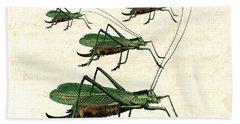 Grasshopper Parade 2 Hand Towel