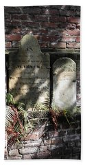 Grave Stones With Fern Hand Towel by Patricia Greer