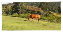 Bath Towel featuring the photograph Grazing by Cheryl Hoyle