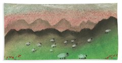 Grazing In The Hills Hand Towel