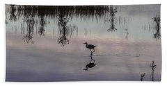 Great Blue Heron At Sundown Hand Towel