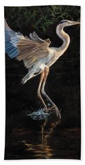 Great Blue Heron Bath Towel