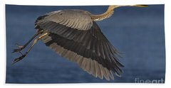 Hand Towel featuring the photograph Great Blue Heron by J L Woody Wooden