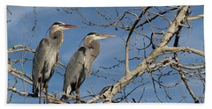Great Blue Heron Mates Bath Towel