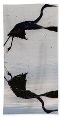 Great Blue Heron Takeoff Hand Towel