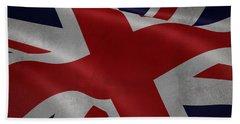 Great Britains Flag Waving On Canvas Bath Towel