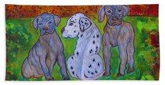 Great Dane Pups Hand Towel