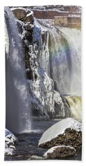 Great Falls And A Rainbow Bath Towel