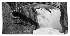 Great Falls In Paterson Nj Bath Towel by Anthony Sacco