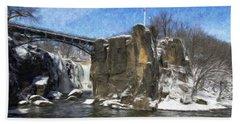 Great Falls Painted Bath Towel