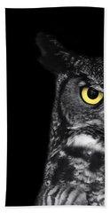 Great Horned Owl Photo Bath Towel