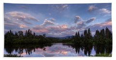 Great North Woods Sunset In New Hampshire Hand Towel