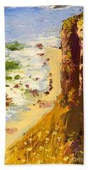 Bath Towel featuring the painting Great Ocean Road by Pamela  Meredith