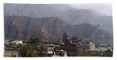 Great Wall Of China At Badaling Bath Towel