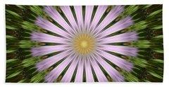Green And Purple Starburst Bath Towel