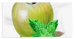 Green Apple And Mint Hand Towel by Irina Sztukowski