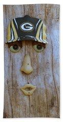 Green Bay Packer Humor Hand Towel by Kay Novy