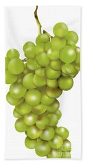 Green Bunch Of Grapes Hand Towel