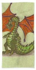 Green Dragon Hand Towel