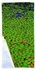 Bath Towel featuring the photograph Green Dream by Zafer Gurel