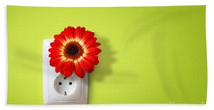 Green Electricity Bath Towel