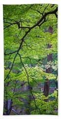 Green Explosion Hand Towel