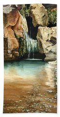Green Falls II Bath Towel