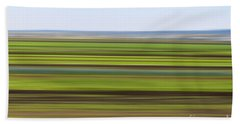 Green Field Abstract Hand Towel