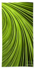 Green Flow Abstract Hand Towel