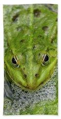 Green Frog Bath Towel by Matthias Hauser