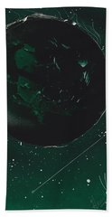 Green Galaxies Hand Towel