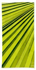 Green Palm Frond Bath Towel by Phil Perkins