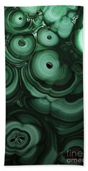 Green Patterns Of Malachite Bath Towel