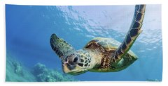Green Sea Turtle - Maui Bath Towel