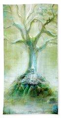 Green Skeleton Meditation Bath Towel
