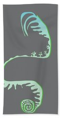 Green Spiral Evolution Hand Towel