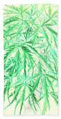 Hand Towel featuring the photograph Green Splender by Jamie Lynn