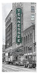 Green Tennessee Theatre Marquee Hand Towel
