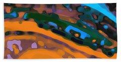 Bath Towel featuring the digital art Green Virtual Voyage by Mihaela Stancu